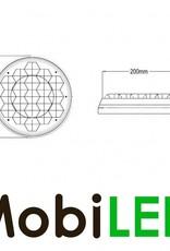 Flash ambre 200mm pour Signalisation de chantier, version maître plat