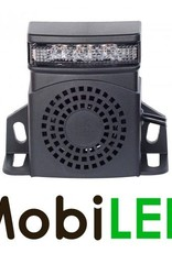 Achteruitrijalarm met LED 10-80 vdc 92-107dB