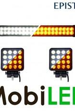 Ensemble d'action: 240W barre bicolore + 2x 48W  projecteurs bicolores