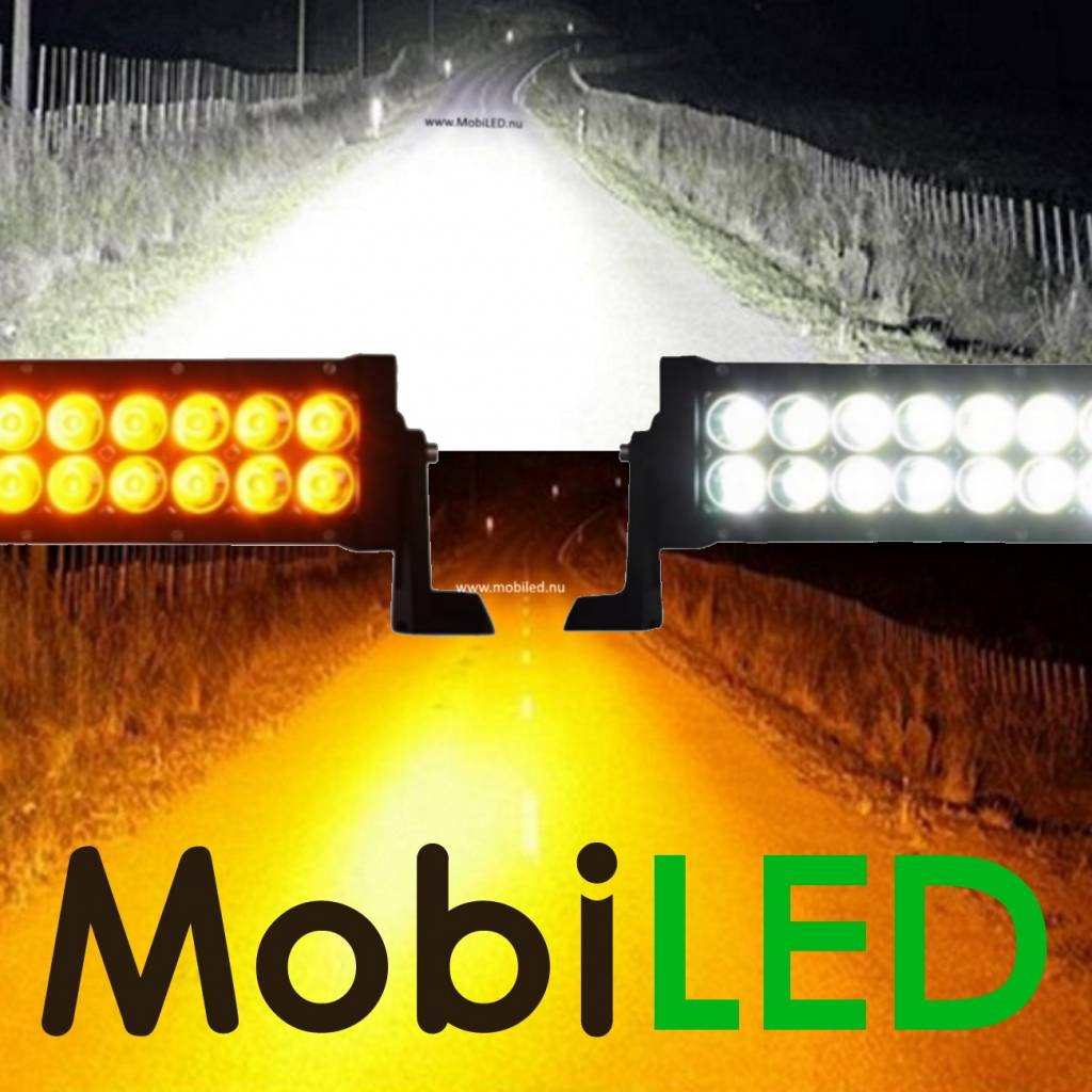 Actie set: 300w dual color light bar + 2x 48w dual color werklampen