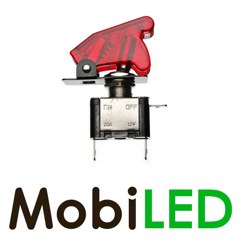 Toggle Schakelaar led 20 ampère 12 volt rood