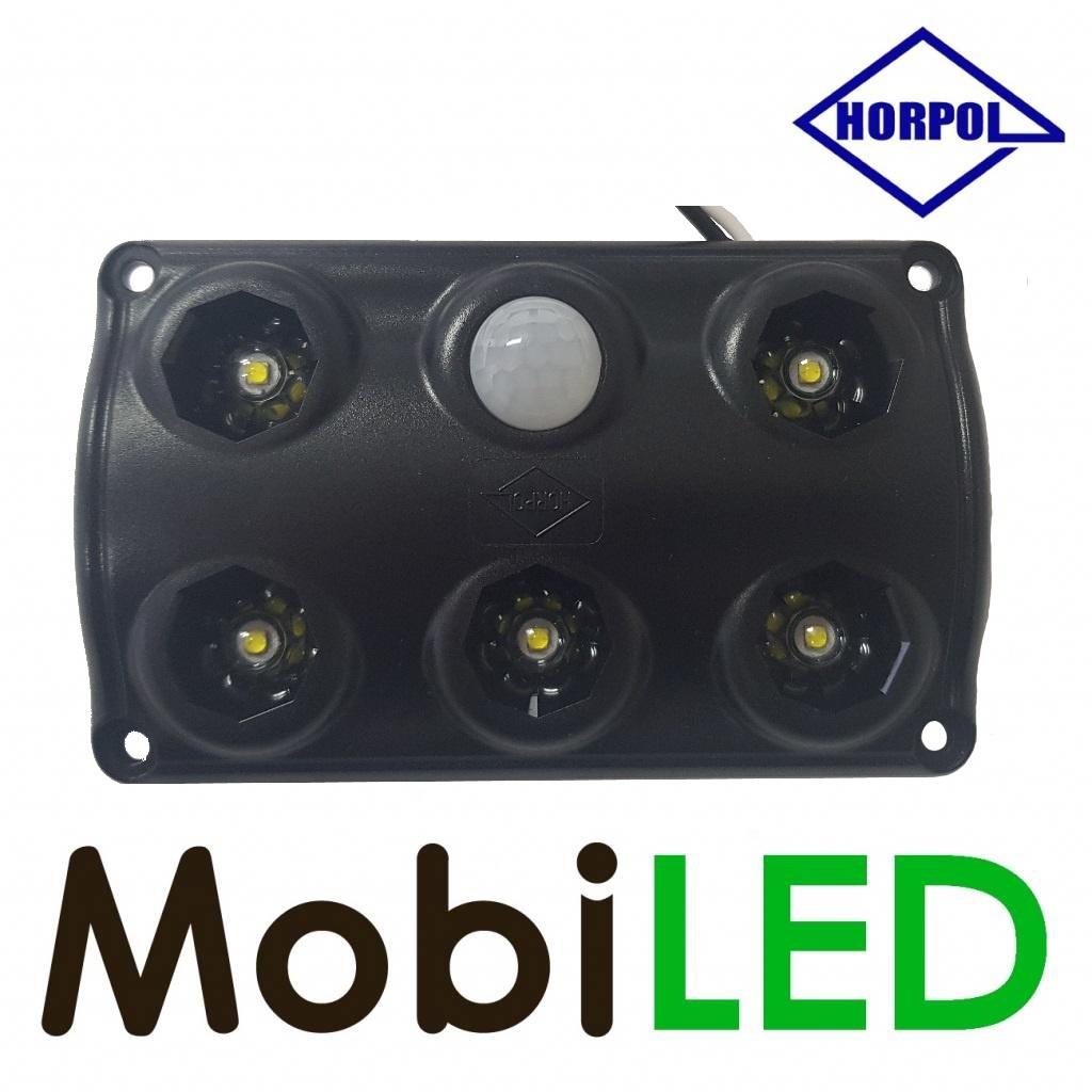 HORPOL Éclairage intérieur avec detecteur de mouvement 12-24 volt noir