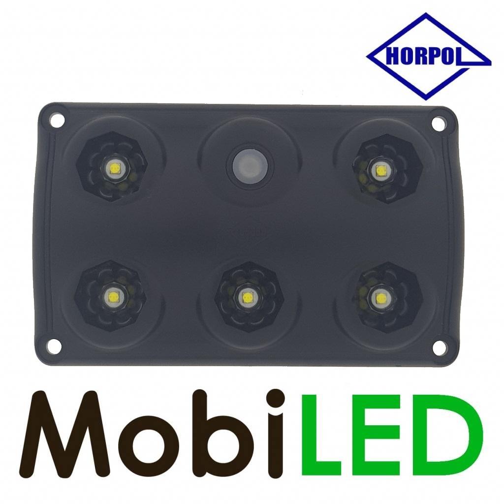 HORPOL Éclairage intérieur noir avec interrupteur 12-24 volt