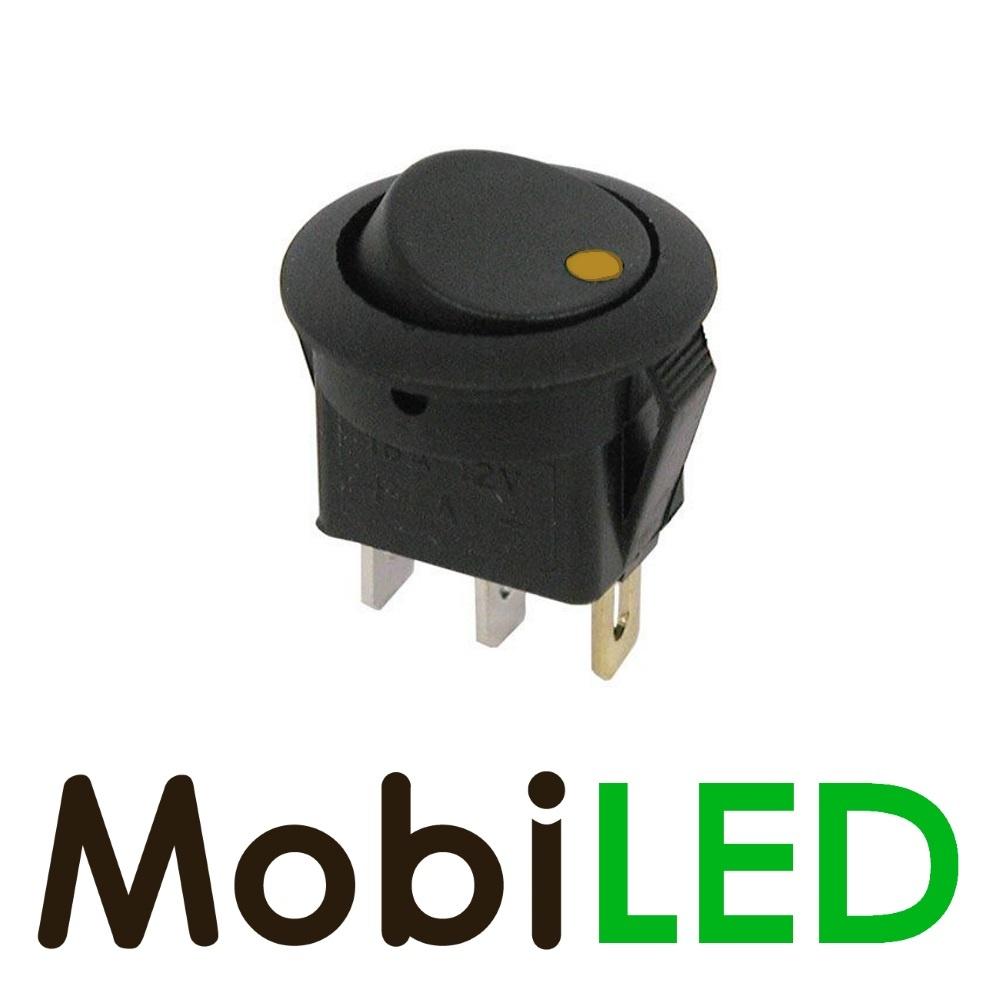 Interrupteur LED 20 Ampère 12 volt jaune