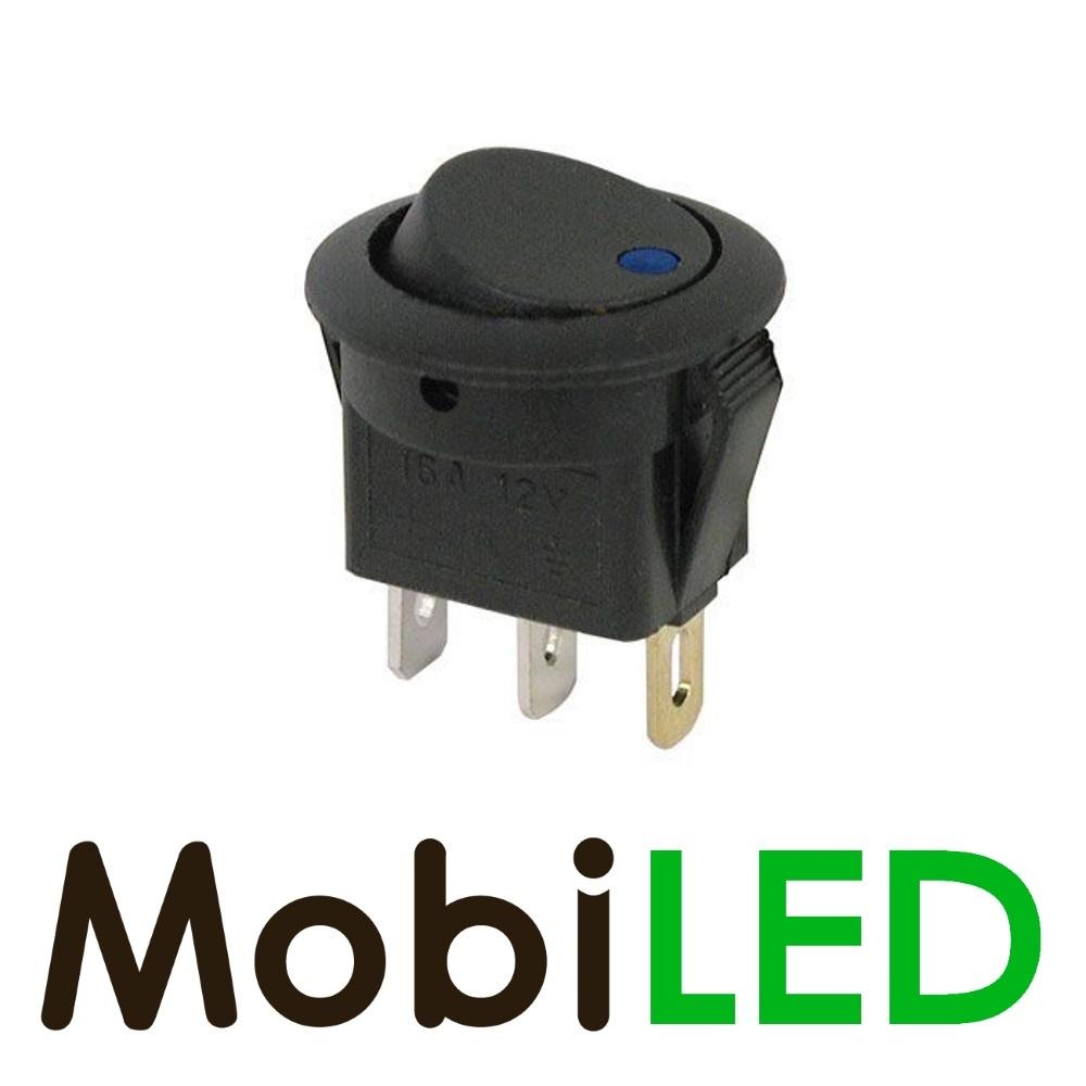 Interrupteur LED 20 Ampère 12 volt bleu