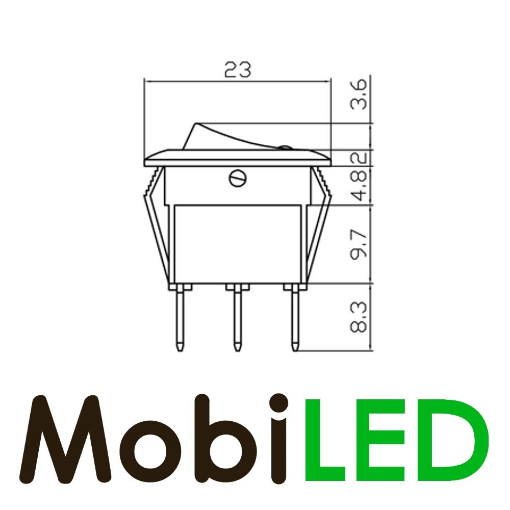 Tuimel Schakelaar led 20 ampère 12 volt groen