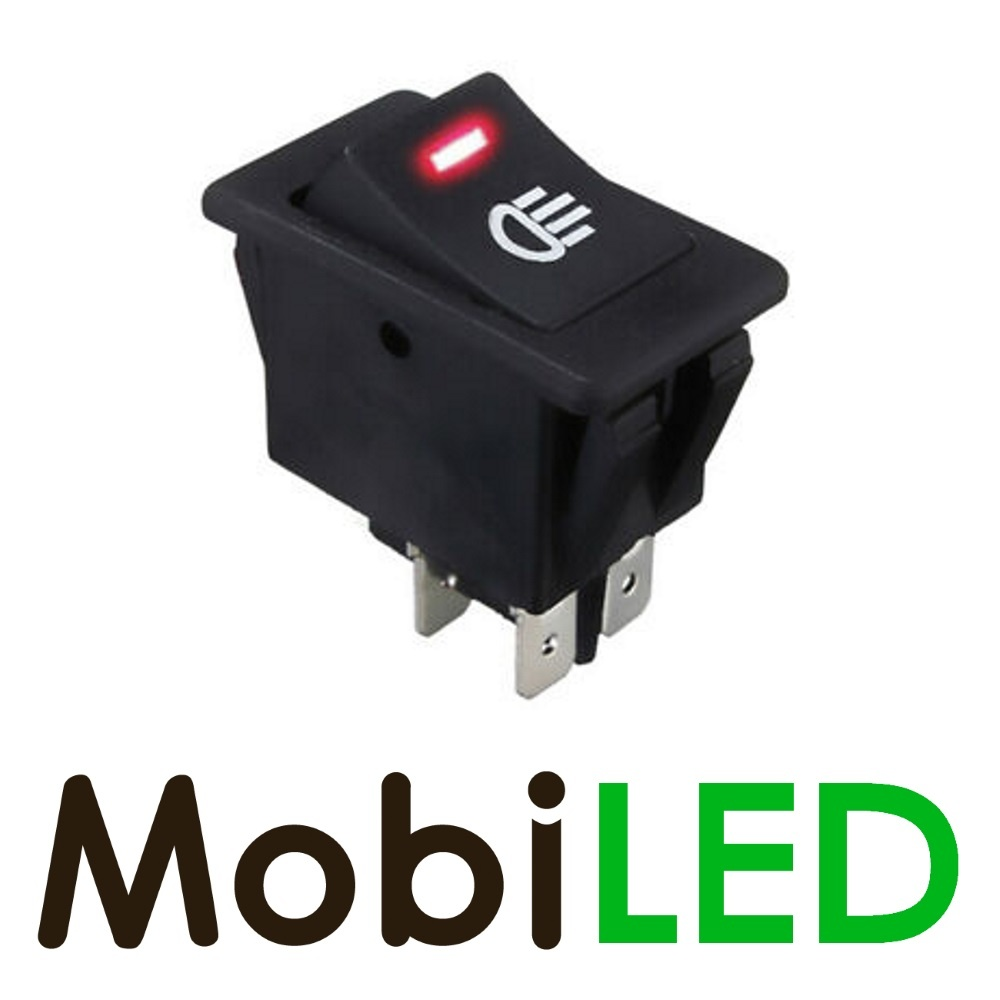 Wip Schakelaar led rood 35 ampère 12 volt