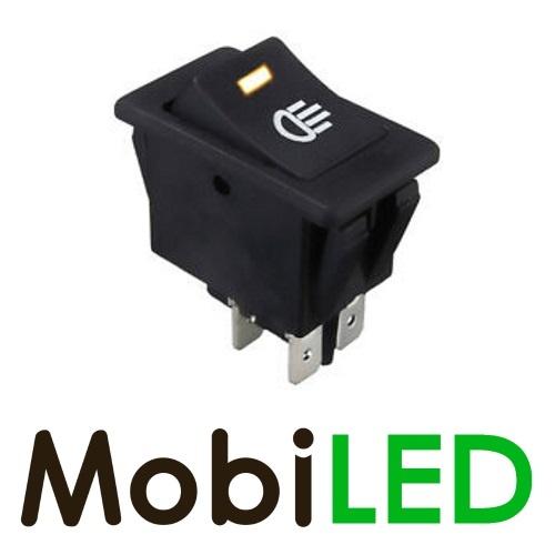Interrupteur LED jaune 35 Ampère 12 volt