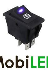 Interrupteur LED bleu 35 Ampère 12 volt