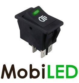 Interrupteur LED vert 35 Amp 12V