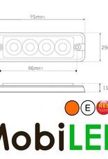 Flitser Amber 4 leds Compact R65 12-24 volt