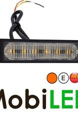 Flitser Amber 6 leds Compact R65 12-24 volt