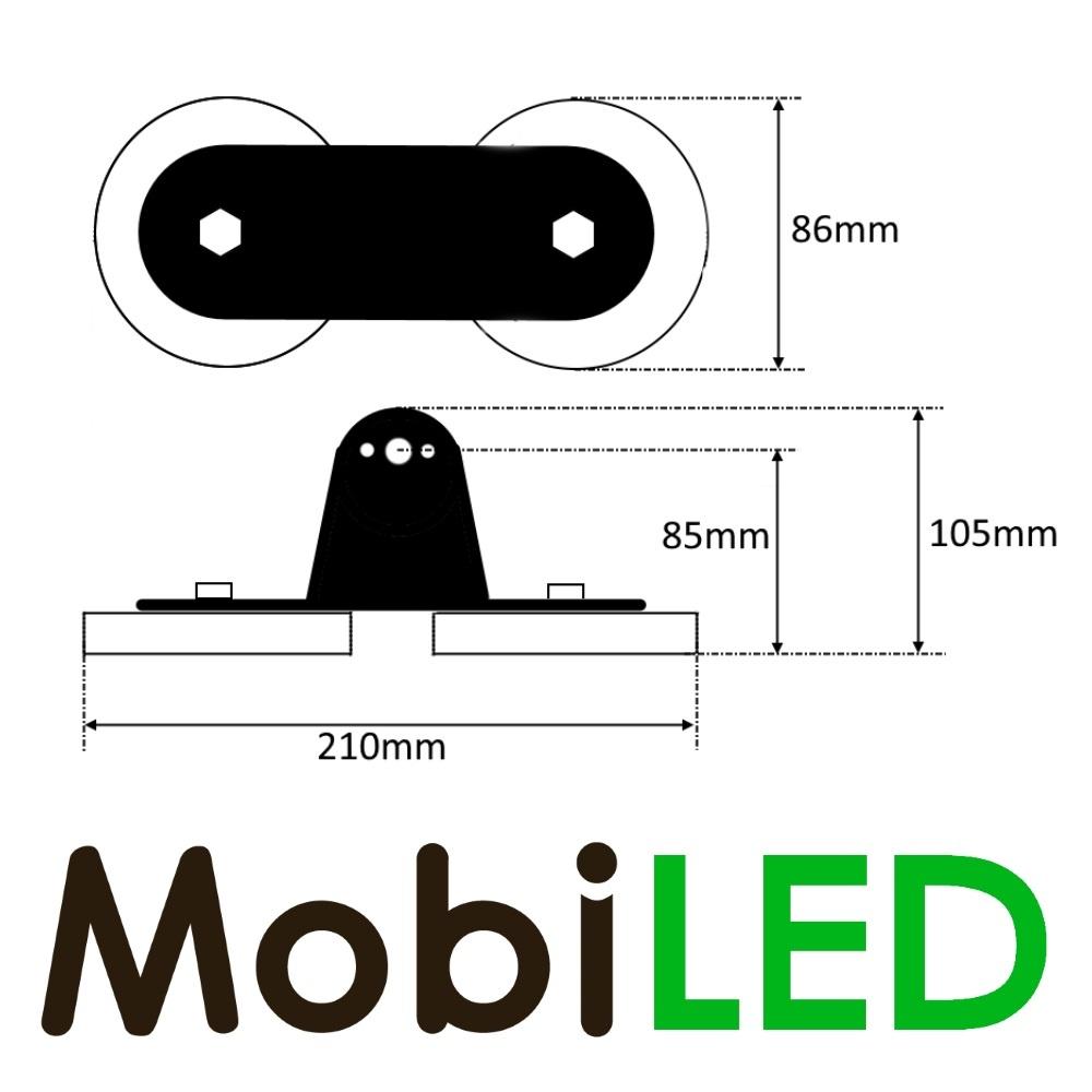 Set Magneetsteunen voor Ledbar montage