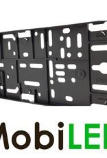 Porte-plaque d'immatriculation en plastique noir, modèle clic