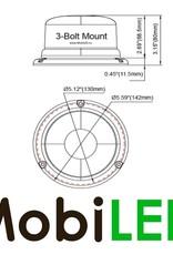 Juluen Juluen B16 Amber/Helder Zwaailamp  vaste montage 10-30 Vdc R65 klasse 1