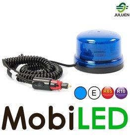 Juluen Blauwe  LED zwaailamp met  magneet 12V/24V