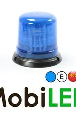 Juluen B14 Zwaailamp / Flitslamp  Blauw 14 patronen vaste montage 10-30 Vdc R65