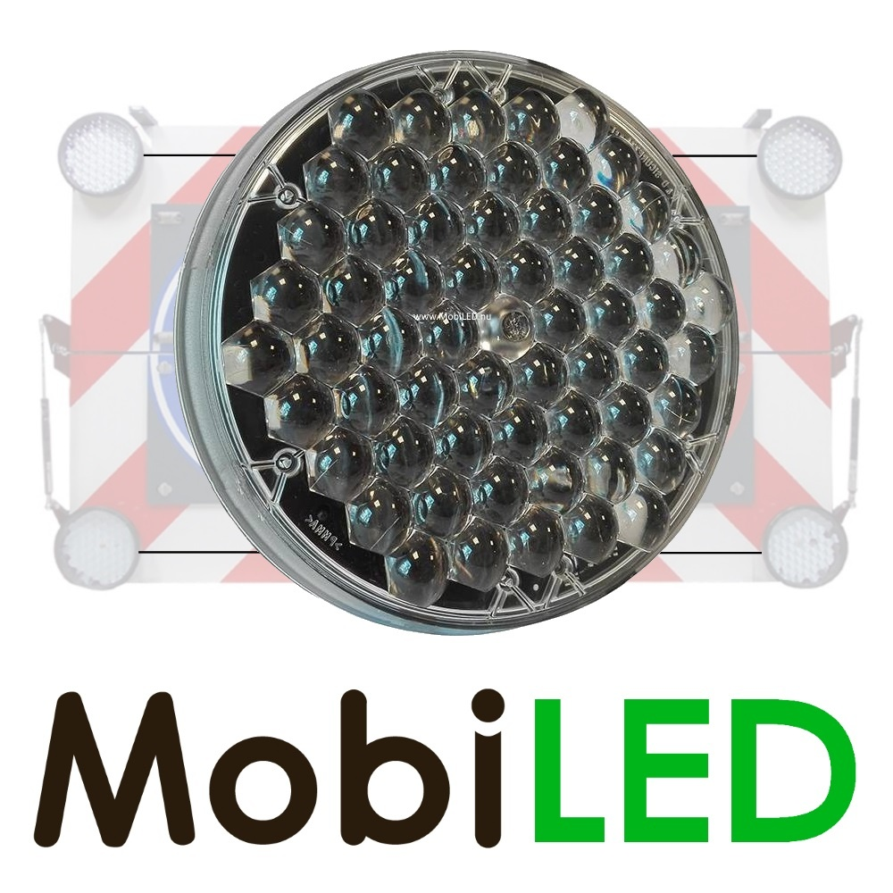 Heavy duty 200mm LED flitser Master, plat model