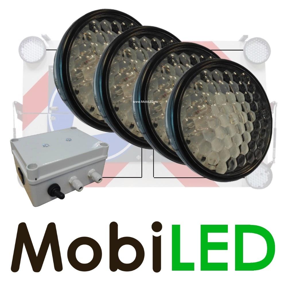 Complete set Heavy duty 200mm LED flitsers met controlebox voor actieraam