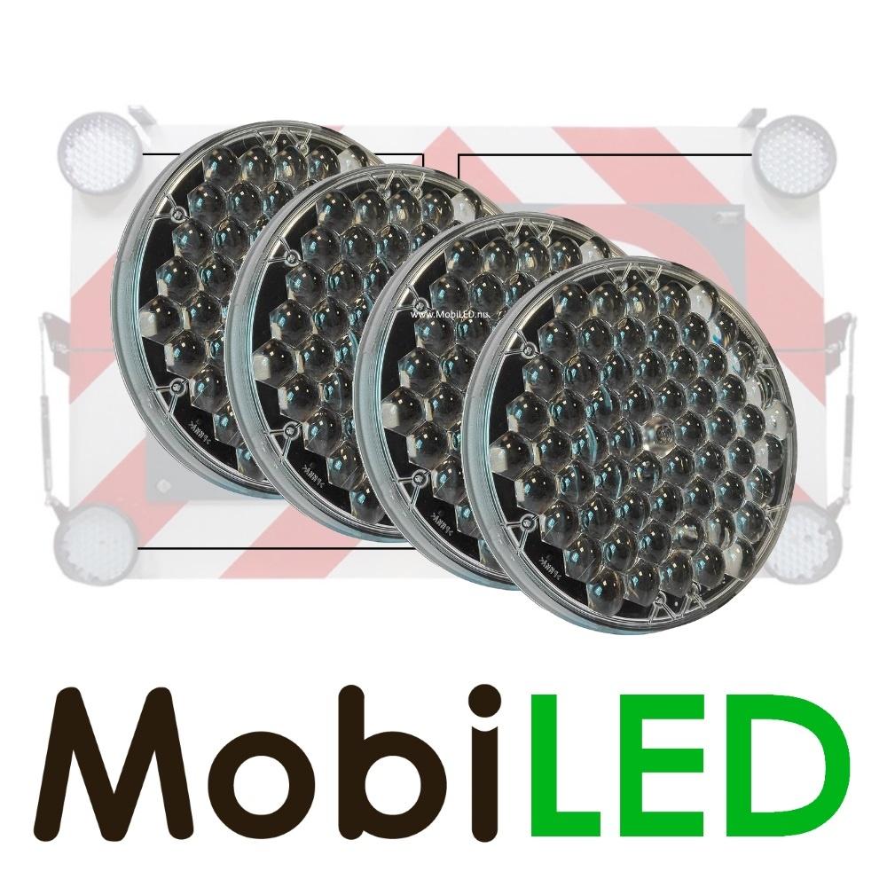 Complete set platte 200mm LED flitsers 1x Master 3x slave voor actieraam