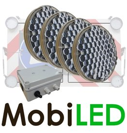 M-LED SET Flitser 200mm met Controle-box (12 VOLT)