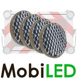 M-LED M-LED Set 4 Flitser 200mm  (12-24 VOLT)
