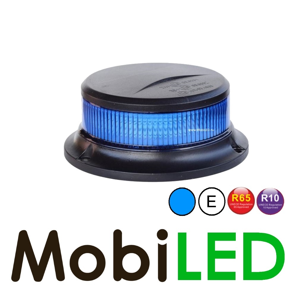 Flitslamp met blauwe lens UFO 27w en  magneetvoet