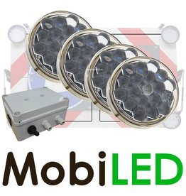 M-LED SET Flitser 100mm met Controle-box (12 VOLT)