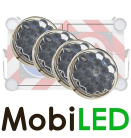 M-LED M-LED Set 4 Flitser 100mm  (12-24 VOLT)