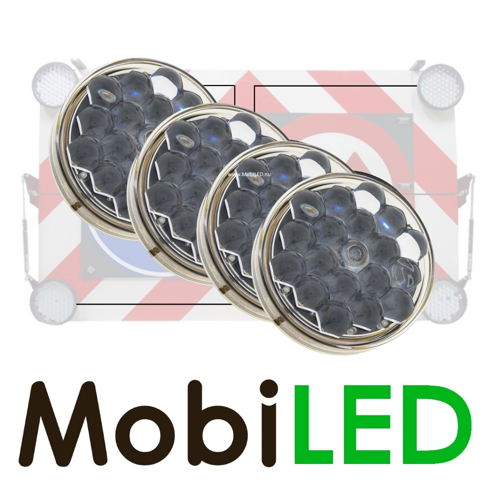 M-LED M-LED Set 4 Flash 100mm (12-24 VOLT)