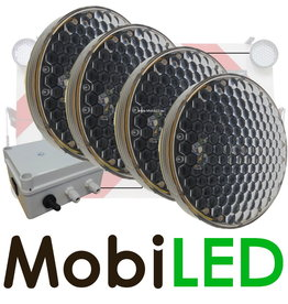 M-LED SET Flitser 300mm met Controle-box (12 VOLT)