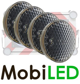 M-LED M-LED Set 4 Flitser 300mm  (12-24 VOLT)