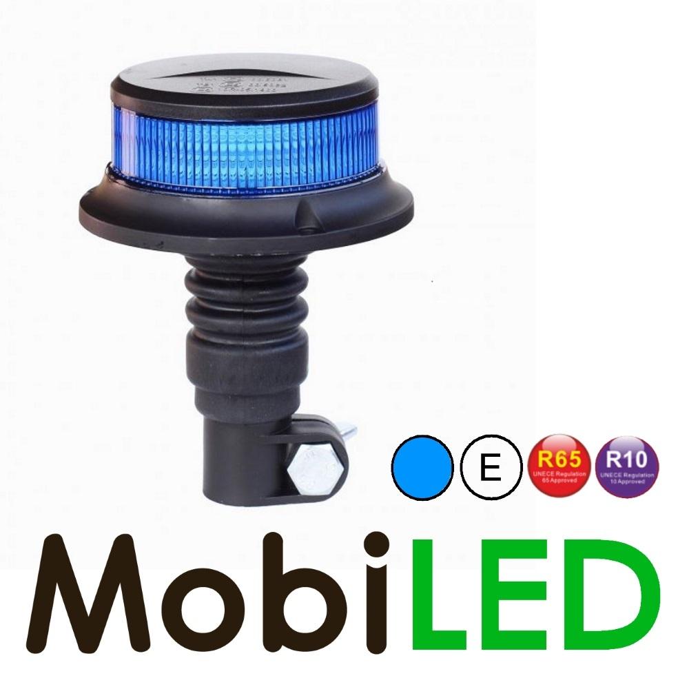 Flitslamp blauw UFO 27w opsteek DIN flex