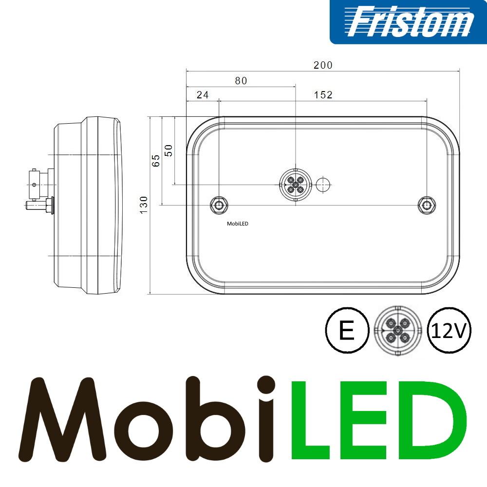 Fristom LED achterlicht  12V Fristom 270 series links mistlamp/kenteken 5PIN E-keur