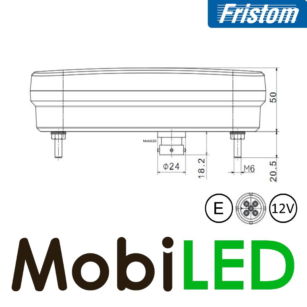 Fristom LED achterlicht 12V Fristom 270 series rechts  achteruitrijlamp 5PIN E-keur