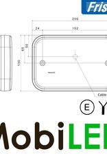 Fristom LED achterlicht  12V Fristom 270 series links mistlamp/kenteken  E-keur