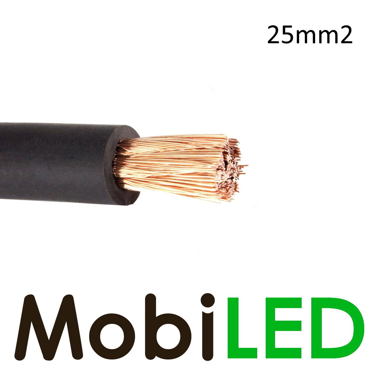 Câble de batterie 1 x 25mm2 Noir