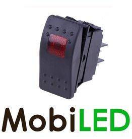 Interrupteur à bascule LED rouge 12V