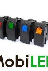 Interrupteur à bascule LED bleu 12V