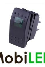 Interrupteur à bascule LED vert 12V