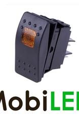 Interrupteur à bascule LED ambre 12V