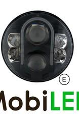 Phare LED avec feu de position 7 pouces Noir E-marque