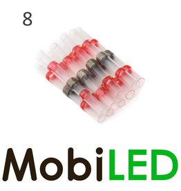 8x Connecteur de câble avec étain et gaine thermorétractable 0.5-1.5mm2