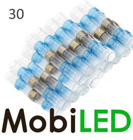 30x Connecteur de câble avec étain et gaine thermorétractable 1.5-2.5mm2
