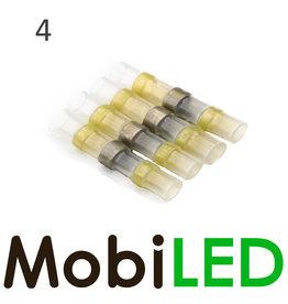 4x Connecteur de câble avec étain et gaine thermorétractable 4.0-6.0 mm2