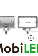 LED autolamps LED Projecteur blanc E-mark rectangulaire