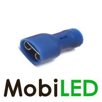 10x M-LED PVC Kabelschoen  vrouw volledig geïsoleerd 1.5-2.5mm² (6,3x0,8 mm) blauw
