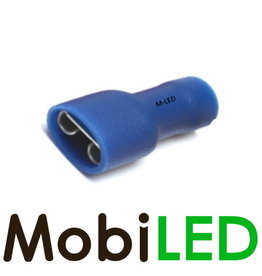 M-LED 10x Vrouw geïsoleerd 1.5-2.5mm² (6,3x0,8mm) blauw