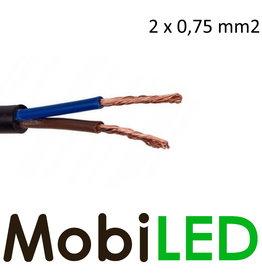 Câble de connexion  plat 2 fils 2 x 0,.75 mm2