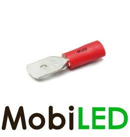 M-LED 10x Man half geïsoleerd 0.5-1.5mm²  (6,3x0,8mm) rood